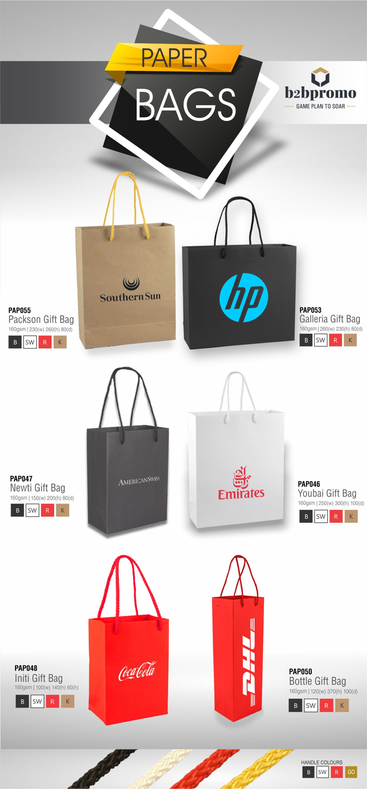 Add a touch of class to your year end gifts with branded Gift bags
